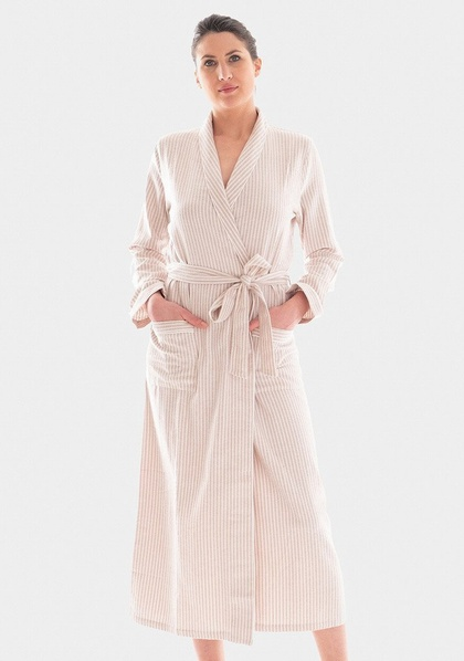 Cotton Flannel Dressing Gown - SALE 20% OFF