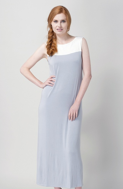 Long Sleeveless Modal Jersey Nightgown -SALE 20% OFF